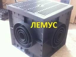 Комплект: дождеприемник 300х300 и пластиковая решетка