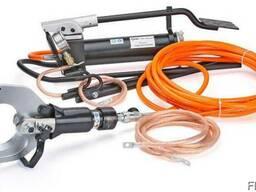 Комплект гидравлических ножниц с помпой для резки кабелей по