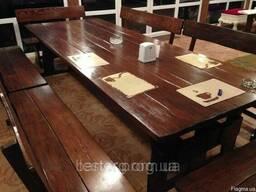 Комплект из натурального дерева для ресторана 3000*1200