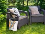 Keter Corfu Duo Set мебель из искусственного ротанга - фото 4
