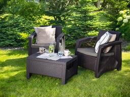 Комплект мебели Allibert Corfu Weekend - коричневый