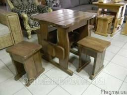 Комплект мебели из массива деревянный 750*750