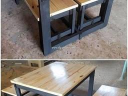 Комплект меблів лофт на замовлення, стіл, лавки, лофт