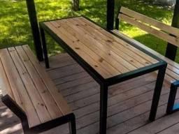 Комплект меблів, стіл та дві лавки, меблі лофт на замовлення
