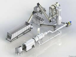 Комплектный завод по производству топливных пеллет на 1т/ч