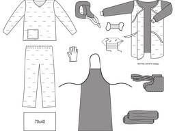 Комплект одежды противоэпидемический № 1, не/стерильный
