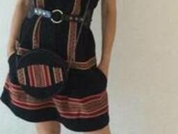 Комплект: платье сапожки сумочка в украинском стиле