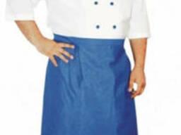 Комплект повара( 4 комплектующих)бело-голубой, заказ на пошив