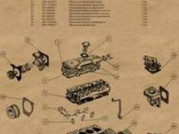 Комплект прокладок Д-240(МТЗ) паронит 1,5-2,0мм полный -Укр.