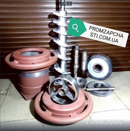 Комплект шнек рабочий, цилиндр, гайка, подпора К7ФВП-200