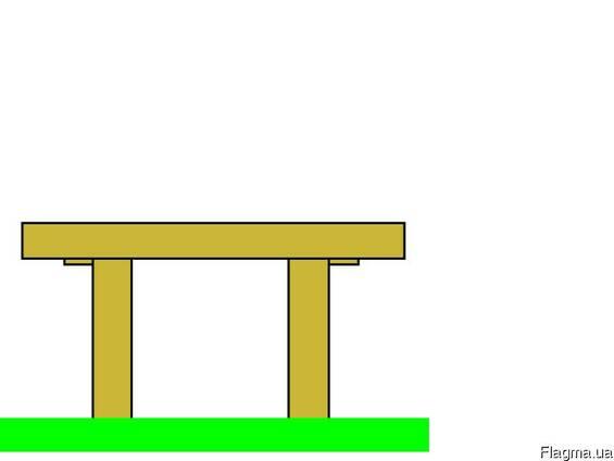 Комплект стол и две лавочки на могилку