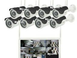 Комплект видеонаблюдения беспроводной Full HD UKC. ..
