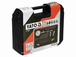 Компресометр для бензинових двигунів YATO 2.1 МПа М14/М18 з інструментами 5 шт + кейс