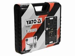 Компресометр для бензинових і дизельних двигунів YATO 4 Мпа з інструментами 50 шт + кейс