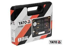 Компресометр вприску палива у двигун авто YATO 0-0.7 МПа 9 шт + кейс