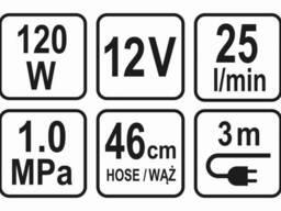 Компресор автомобільний Sthor 12 В 120 Вт 25 л/хв 1 МПа + шланг 46 см + насадки