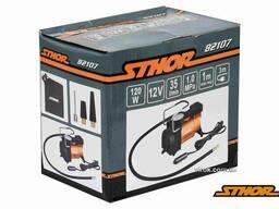 Компресор автомобільний Sthor 12 В 120 Вт 35 л/хв 1 МПа + шланг 1 м + насадки + мішок
