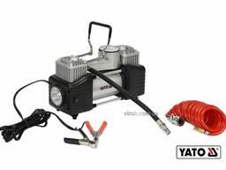 Компресор автомобільний YATO 12 В 250 Вт 60 л/хв 1 МПа + шланг 5 м + насадки + мішок