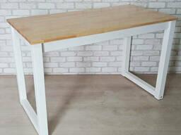 Компьютерный стол Тавол Тэста натуральное дерево белые 120смх60смх75см Натуральный