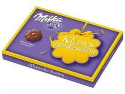Конфеты Milka Pralines milchcreme жёлтая коробка 110г