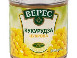 Консервированная кукуруза ТМ Верес 340 гр.
