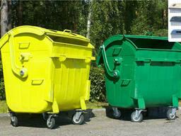 Контейнер для сбора мусора, бумага, стекло, пластмасс.