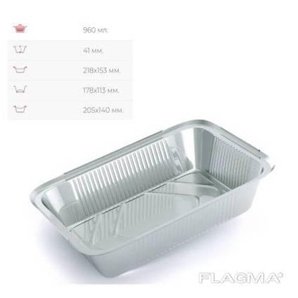 Контейнер из пищевой алюминиевой фольги 960 мл (100 шт)