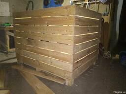 Контейнери дерев'яні для овочів