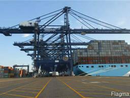 Береговой козловой контейнерный кран