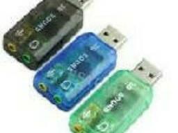 Контролер USB-sound card (5. 1) 3D sound (Windows 7. ..