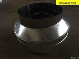 Конус нерж. 0, 8 мм, диаметр 120 мм. дымоход