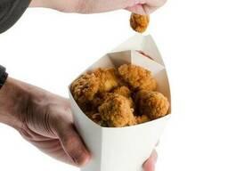 Конусная упаковка для картошки фри с соусником. Конус. ..