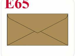 Конверт из крафт картона E65 треугольный клапан