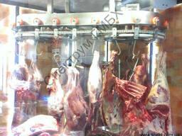 Конвейер роликовый подвесной для демонстрации мяса в магазин