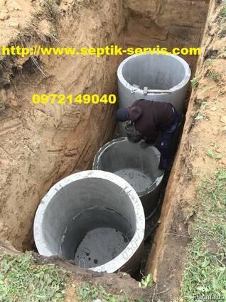 Копка канализации. Выгребная яма под ключ Одесса