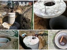 Копка колодцев, сливных ям(септики), канализации, ж/б кольца