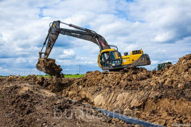 Разработка грунта, землекопные работы в Одессе.