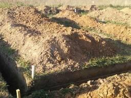 Копка траншей вручную срочно. Копание землекопами Киев цена