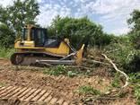 Корчування дерев , пнів бульдозером Komatsu - фото 6
