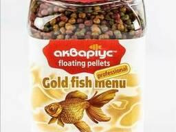 Корм Аквариус Меню для золотых рыб плавающие пеллеты 200 г