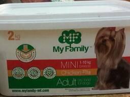Корм для собак my family