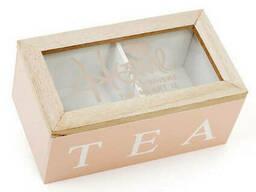 Коробка для хранения чая и сахара BonaDi на 2 секции