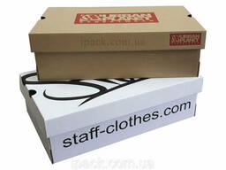 Коробка для обуви, бурая, 410*340*150 мм, микрогофрокартон, крафт, обувная коробка