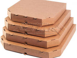 Коробка для пиццы 300*300*37 бурая