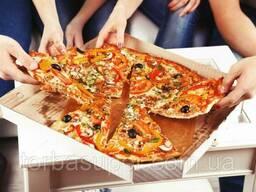 Коробка для пиццы c печатью Pizza 350Х350Х30 мм, 100 шт\уп