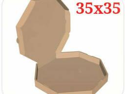 Коробка для пиццы коричневая 35х35