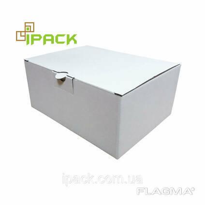 Коробка картонная самосборная 150*143*100 мм белая микрогофрокартон