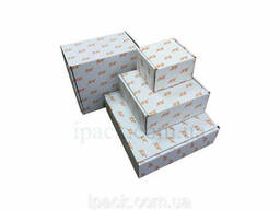 Коробка картонная самосборная 480*400*80 мм белая микрогофрокартон