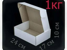 Коробка микрогофрокартон 24х17х10 см (белая, 1 кг)