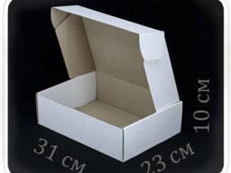 Коробка микрогофрокартон 31х23х10 см (белая)